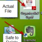 Deleting Desktop Icons