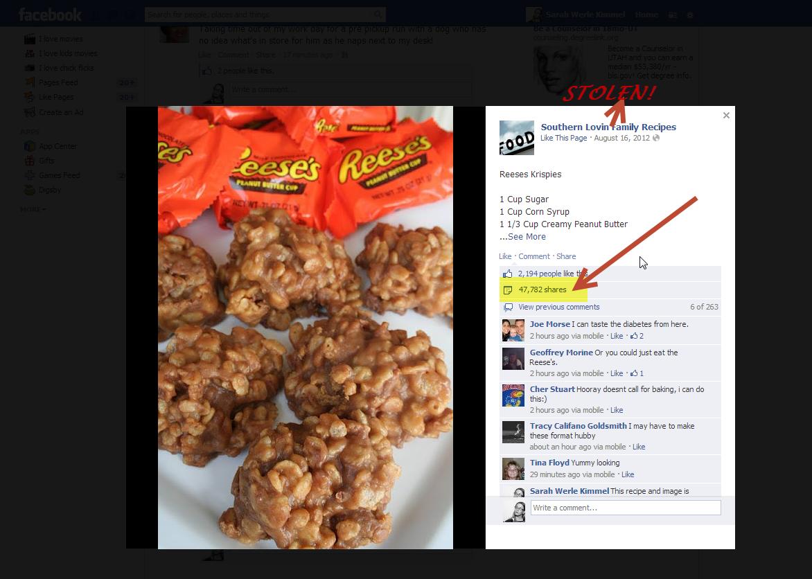 Sharing recipes stolen content on facebook family tech zone sharing recipes stolen content on facebook forumfinder Images