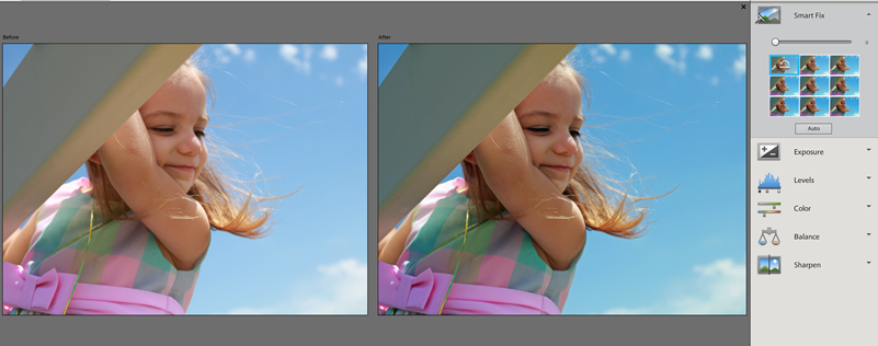 Photoshop Elements 12 Quick Smart Fix