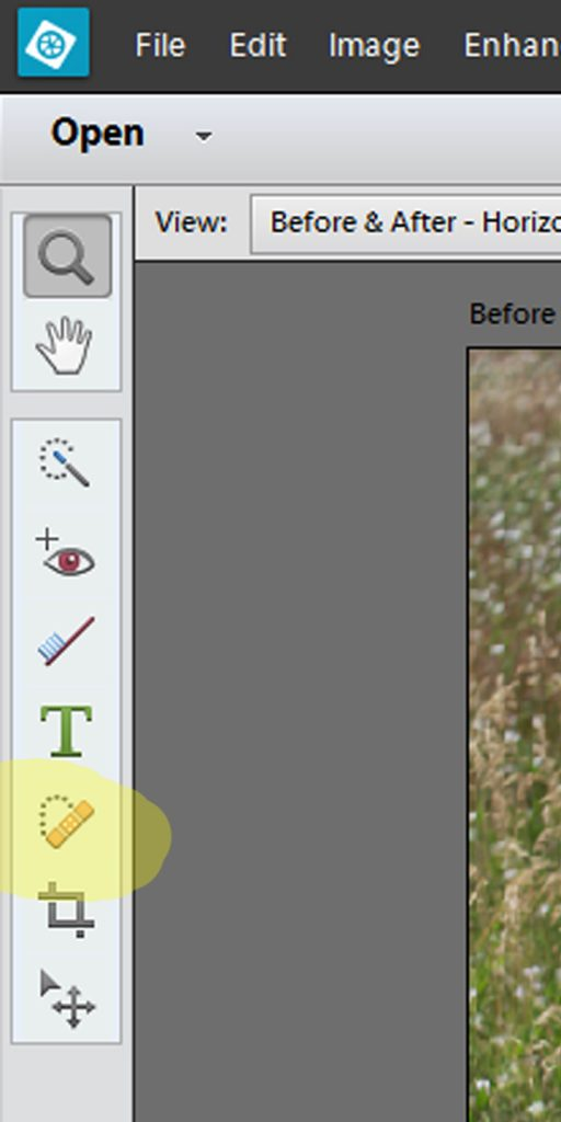 Use Spot Healing brush and Healing Brush to remove unwanted elements in the picture