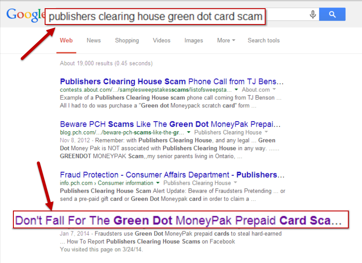 Green Dot Card Scam Publisheru0027s Clearing House
