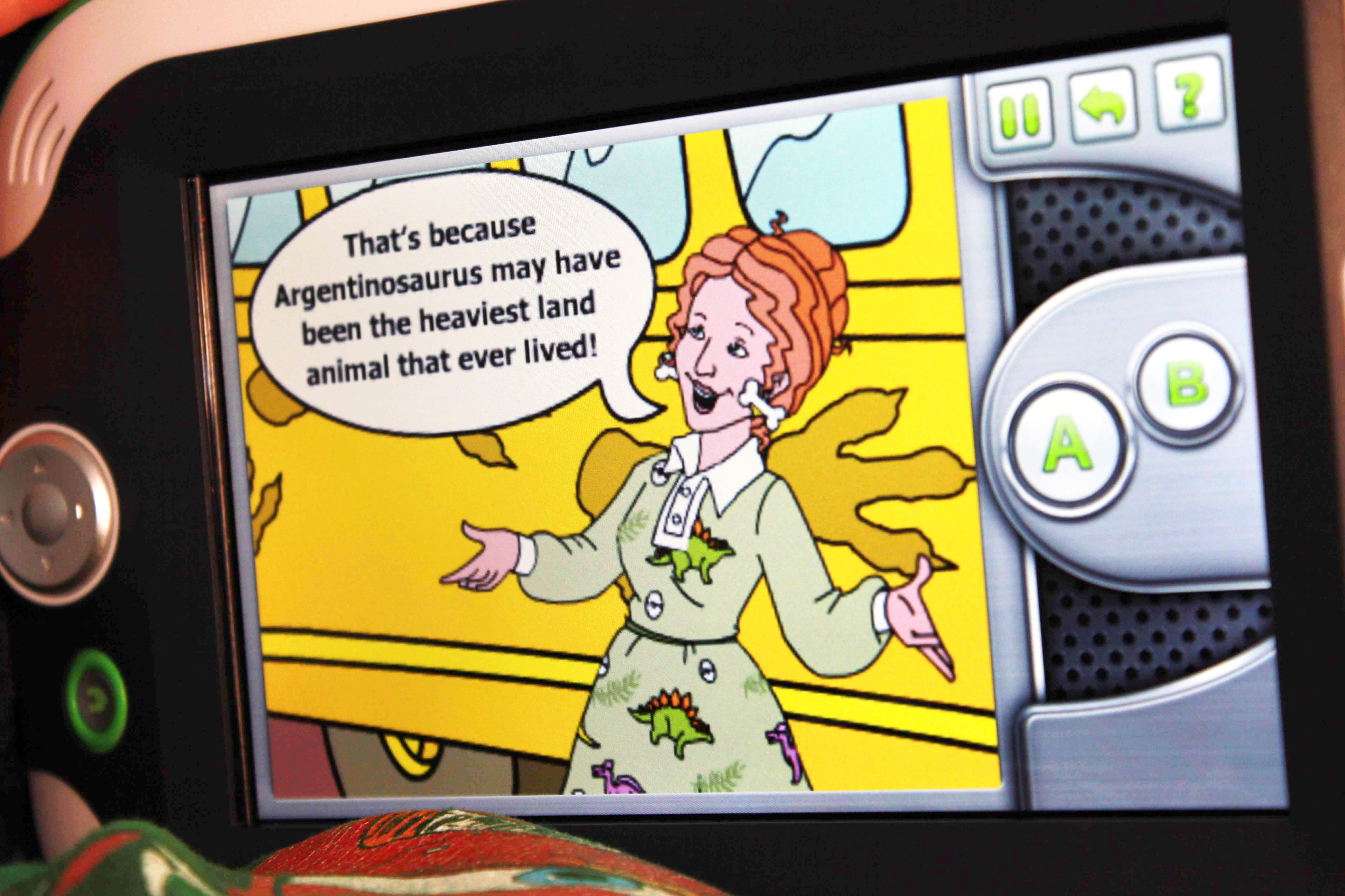 Magic School Bus Dinosaur LeapPad Game Facts