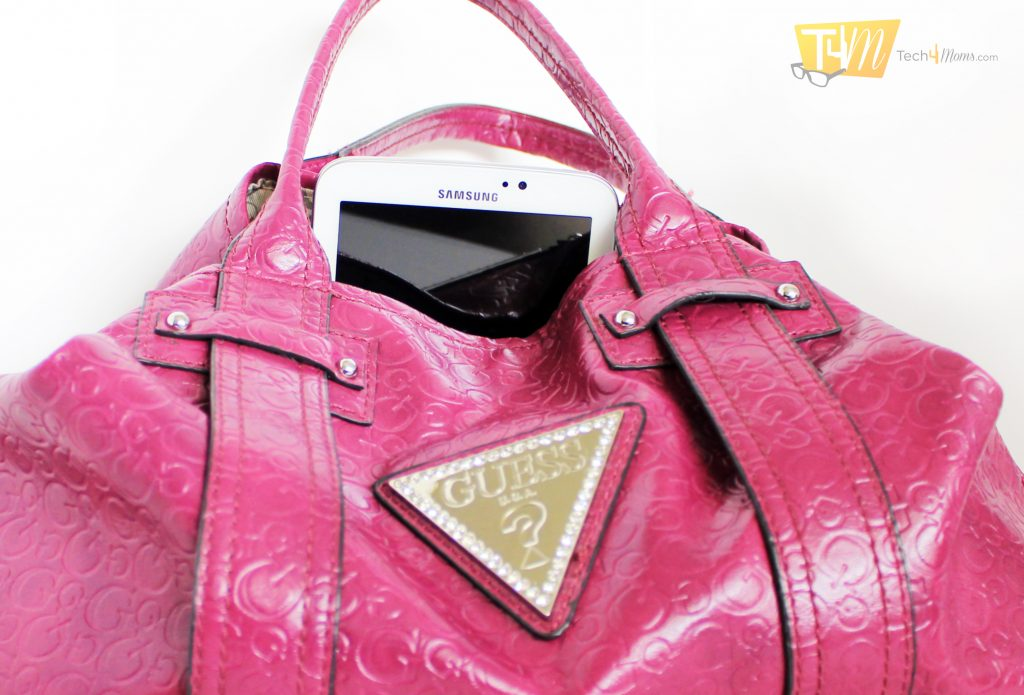 The Samsung Galaxy Tab 3 fits into my purse easily