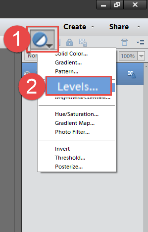 2 Adjustment Layer Levels
