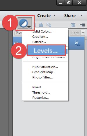 2 Adjustment Layer Levels