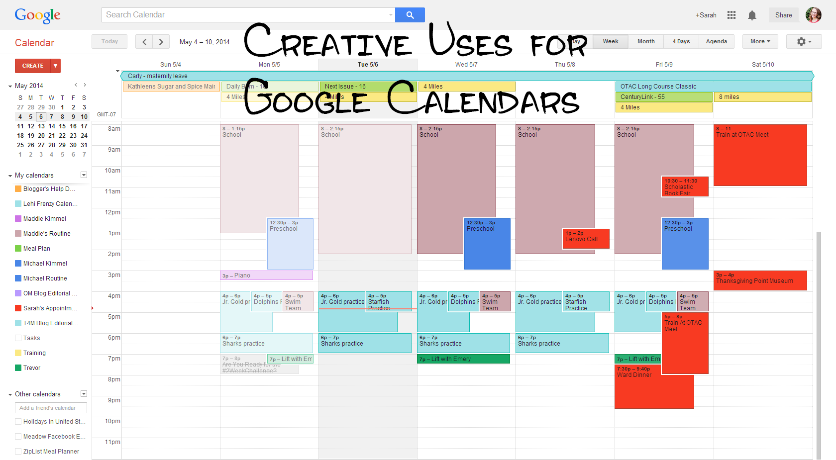 Creative Uses for Google Calendar