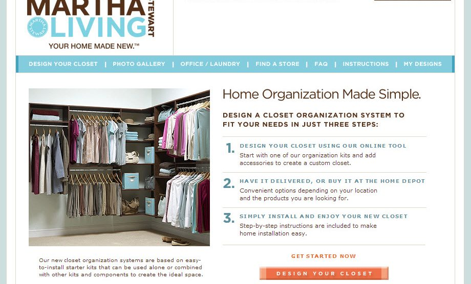 Design Your Own Closet From Martha Stewart U0026 Home Depot   Family Tech Zone