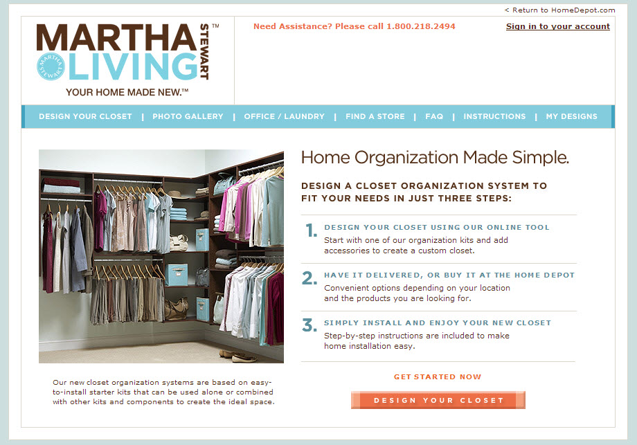 Design Your Own Closet From Martha Stewart & Home Depot - Family