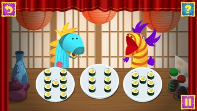Get Ready for Kindergarten LeapPad Game Dragon Cafe Counting