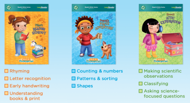Get Ready for Kindergarten LeapReader books and skills
