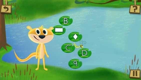 Get Ready for Kindergarten LeapPad Game Ozzie Otter Letter Recognition