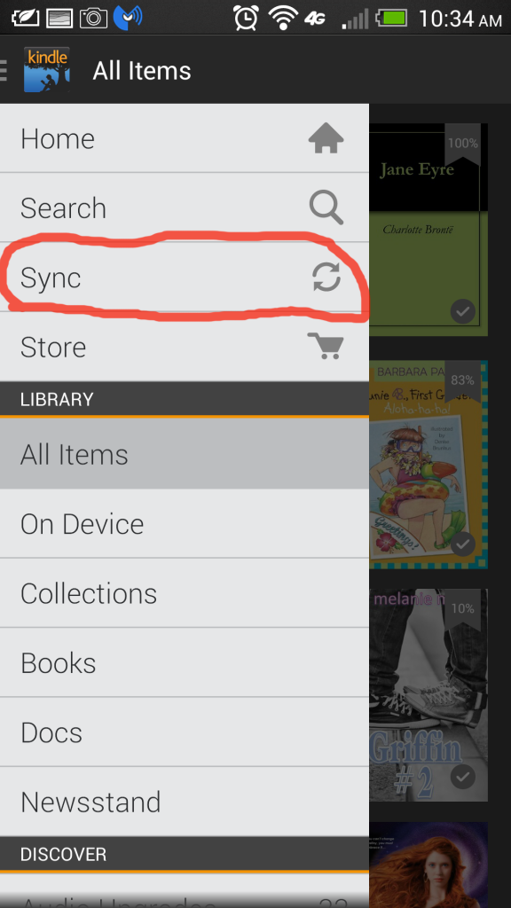 Kindle Sync Library
