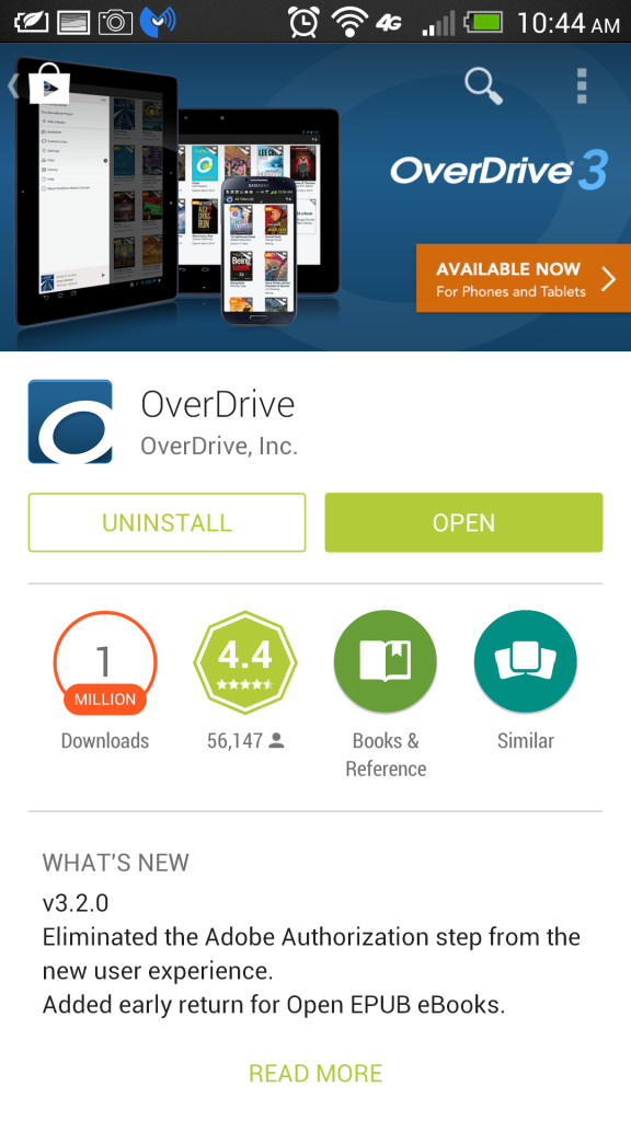 OverDrive Android App