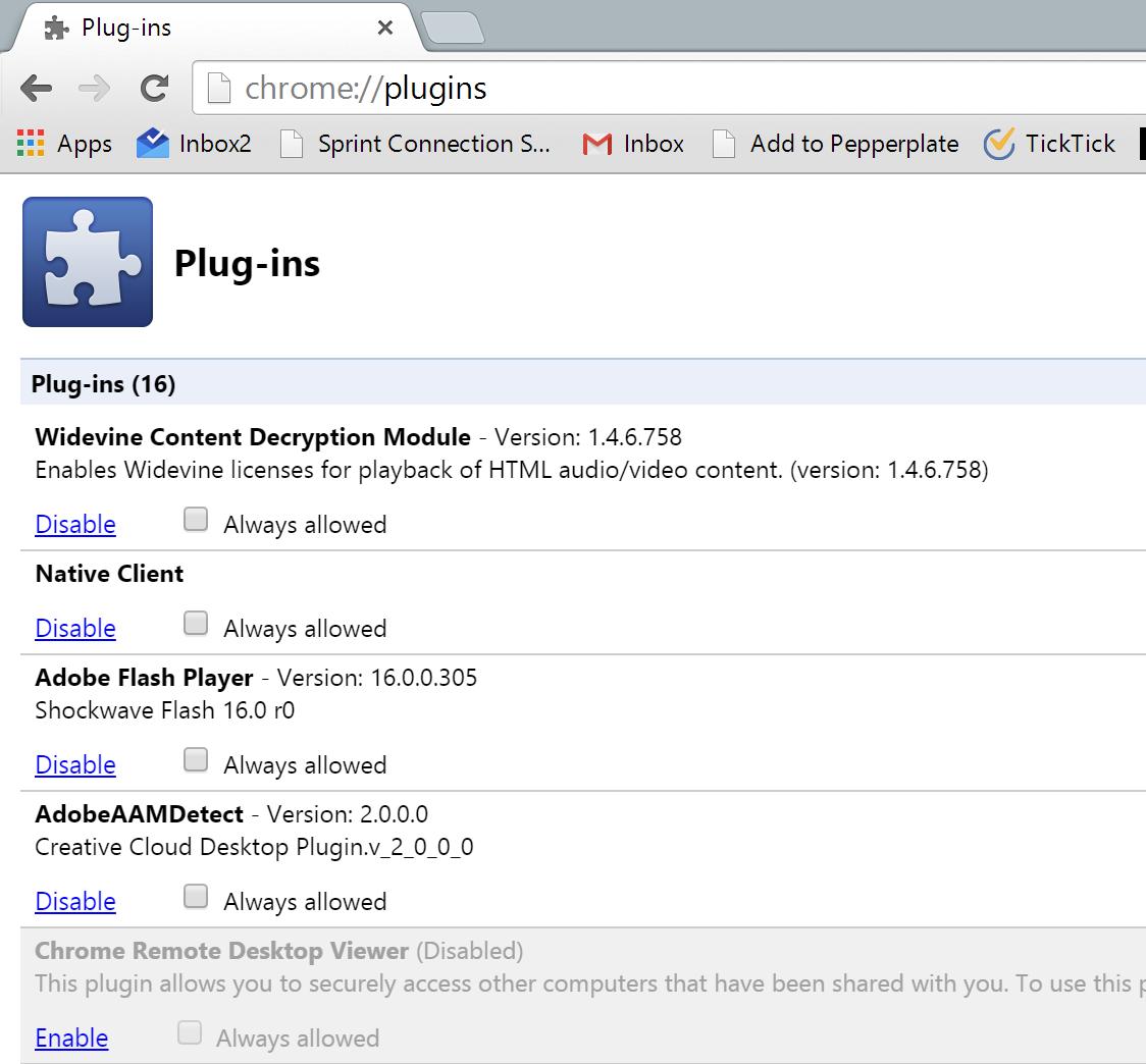 Chromeplugins