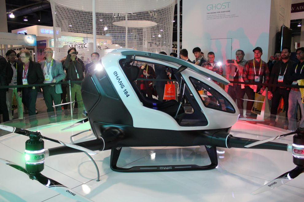ehang 184 quadcopter PTV Personal Transport Vehicle