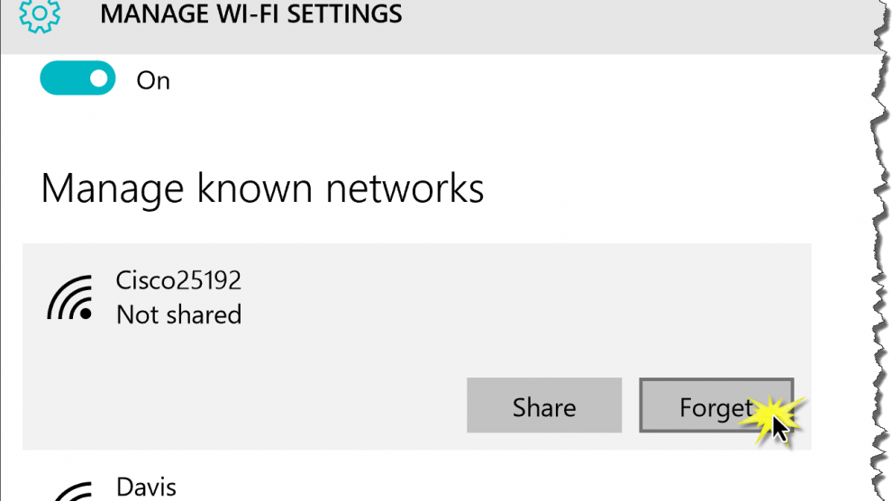 How to Change a WiFi Password in Windows 10—or just delete unwanted