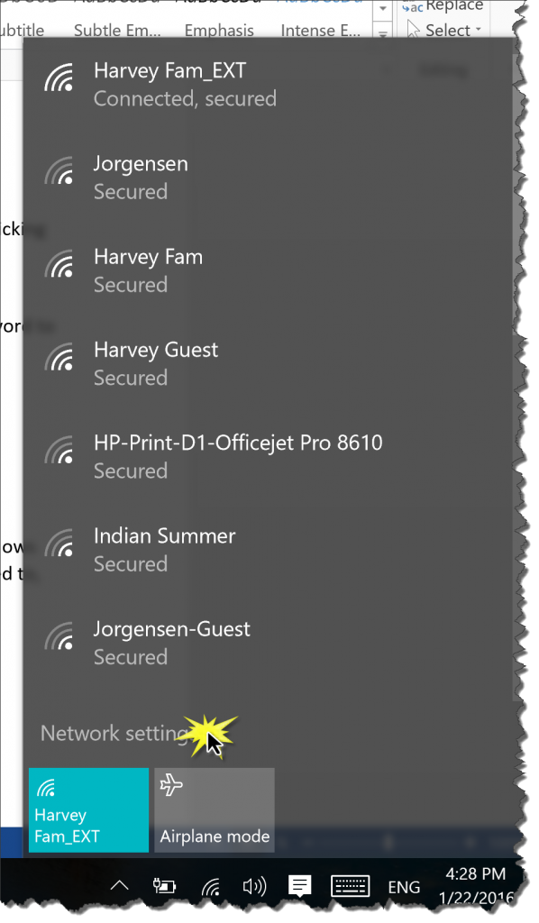 windows 10 clear saved wifi password
